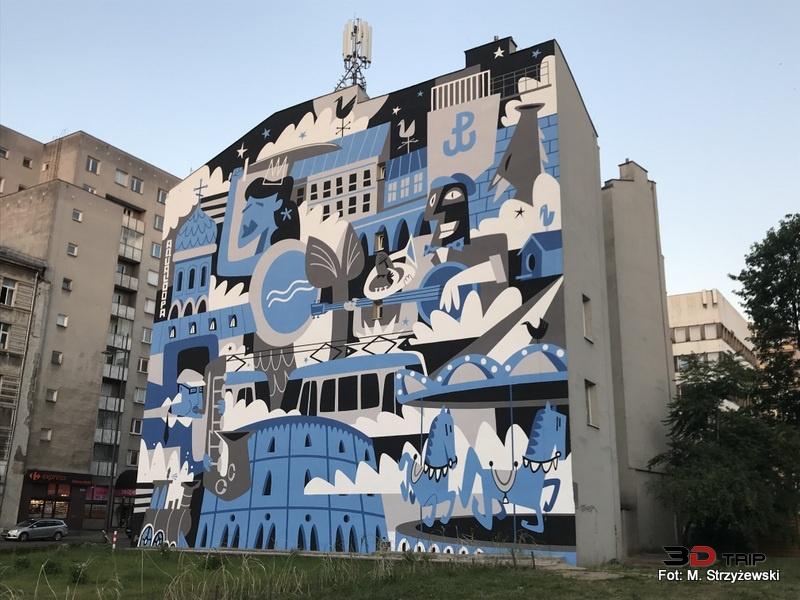 3d waszawa mural